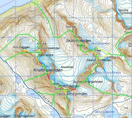 høyde kart Kart og kompass   Den norske fjellheimen om sommeren   De norske  høyde kart